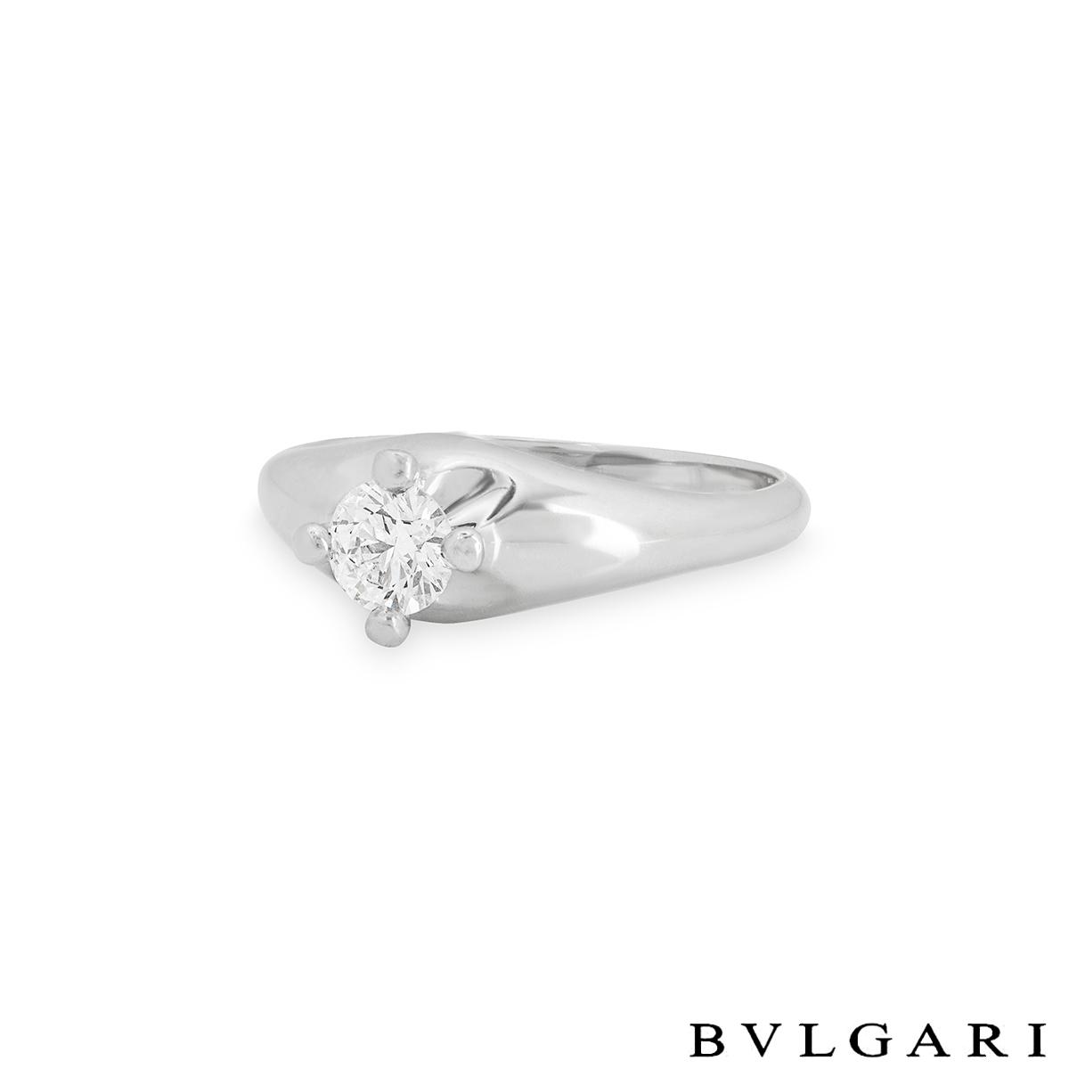 Bvlgari Corona Diamond Platinum Ring